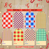 Gingham Gift Tags