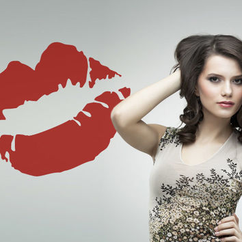 Lips Wall Decal - Sexy Mouth Vinyl Decor