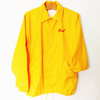 Vintage Carol Mustard Yellow Windbreaker Jacket