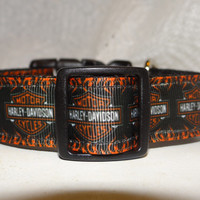 Dog Collar InSpirEd by * Harley Davidson * Motorcycle * Adjustable Buckle Collar OR Martingale Collar*