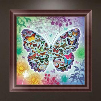 Butterfly DIY 5D Diamond Embroidery Painting Cross Stitch Craft Home Wall Decor SLL