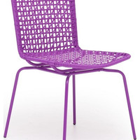 Zuo Silvermine Bay Dining Chair Purple 703056