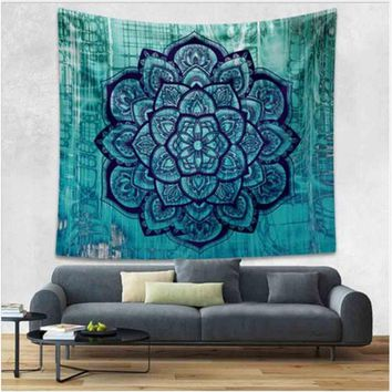 Ombre Mandala Bohemian Tapestries Psychedelic Hippie Boho Mandala Tapestry for Wall Decor Yoga Mat Beach Throw Drop Shipping