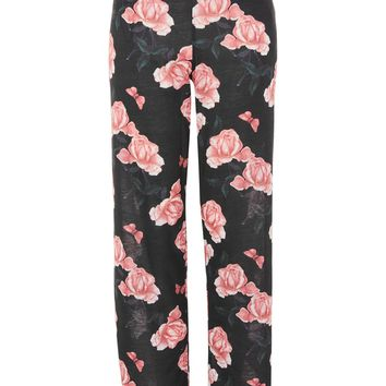 Rose Print Pants | Topshop