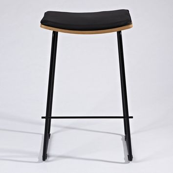 Zoe Counter/Bar Stool w/ Leather Cushion