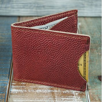 3-Slot Front Pocket Card Sleeve Wallet - 21st Amendment (Horween Football Leather)