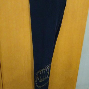 Nike Leggings With Metallic Logo