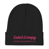 Cute and Creepy and Immortal beanie