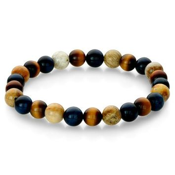 Chrysanthemum Bead Bracelet-Men