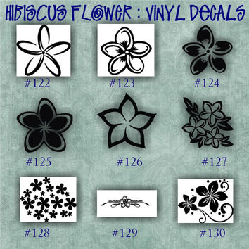 HIBISCUS FLOWER vinyl decals - car window stickers - custom vinyl decals - vinyl sticker - wall decal - page 14