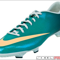 Nike Womens Mercurial Victory IV FG Soccer Cleats - Atomic Teal with Melon Tint - SoccerMaster.com