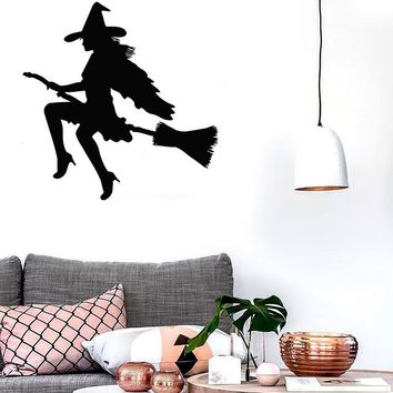 Wall Stickers Vinyl Decal Witch Halloween Magic for Nursery Baby (ig841)