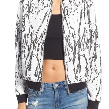 Missguided Marble Bomber Jacket | Nordstrom