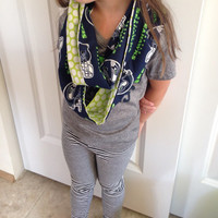 Cotton Seattle Seahawks Infinity Scarf