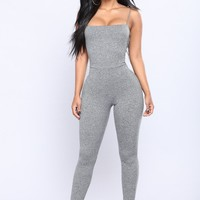 Switch Gears Jumpsuit - Grey