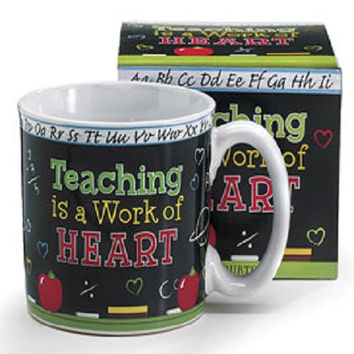Burton & Burton Teaching is a Work of Heart Mug