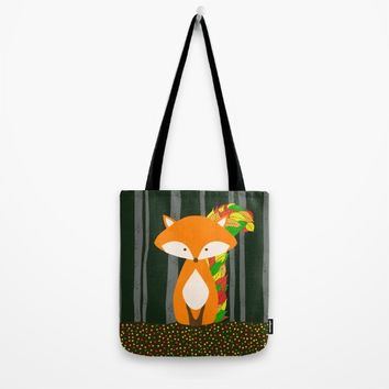 Automn FOX Tote Bag by oursunnycdays