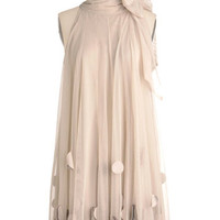 Ryu Pastel Mid-length Sleeveless Shift All Neutral Dress