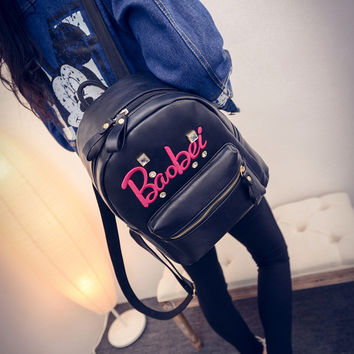 College On Sale Back To School Hot Deal Comfort Stylish Winter Alphabet Korean Casual Fashion Backpack [6582802759]