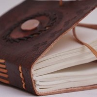 Exclusive Large Hand-Tooled Leather Diary