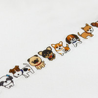 Masking Tape - ROUND TOP, Dogs, 20mm x 5m