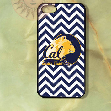 California Bear Berkeley Chevron University iPhone 5, 5s, 5c, 4s, 4, ipod touch 4, 5, Samsung GS3 GS4-Silicone Rubber, Hard Plastic cover