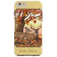 Deer New England Maple Tree Autumn Yellow Tough iPhone 6 Plus Case