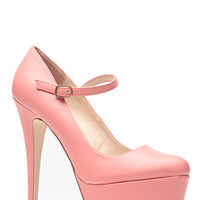 Melon Mary Jane Platform Pumps