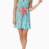 Aqua Cream Tribal Print Dress