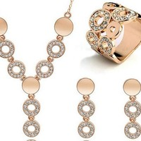 High quality jewelry set for women necklace/earring/ring