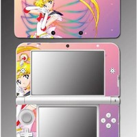 Sailor Moon Venus Jupiter Mars Mercury Saturn Video Game Vinyl Decal Cover Skin Protector for Nintendo 3DS XL