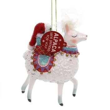 Holiday Ornaments ALPACA ORNAMENT Polyresin Special Presents For You 2020180377