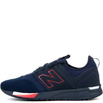 ESBI7E New Balance 247 Classic Navy with Red Men's Sneaker