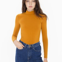 Cotton Spandex Long Sleeve Turtleneck Top | American Apparel