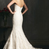 Mermaid Lace and English Net Gown by Allure Bridals
