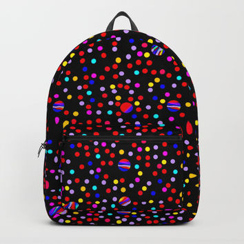 Colorful Rain 09 Backpack by Zia
