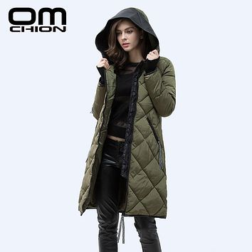 2017 Autumn Winter Jacket Women Slim PU Leather Hooded Thick Down Cotton Padded Coat Casual Warm Parka  XXXL WY14