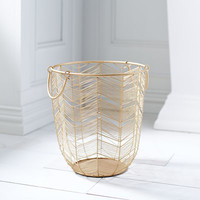Celeste Gold Large Basket