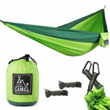 Backpacking Hiking Outdoors or Travel Lightweight Portable with Max 1000 lbs Capacity XL Double Nylon Parachute Camping Hammock