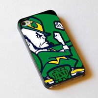 Notre Dame Fighting Irish design iPhone case, iPhone 4/4S case, iPhone 5, 5S, 5c case, Samsung S3, S4 case