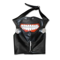 2017 Halloween Cool Cosplay Masks Tokyo Ghoul Kaneki Ken Halloween Party Adjustable Zipper Prop Mask
