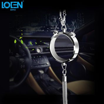1PCS Car Styling Interior Decoration Rearview Mirror Ornaments Fox Kirin Gold Silver Perfume Pendant Glass Auto Accessories