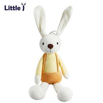 Little J Cute Stuffed Plush Rabbit Toy For Baby Girls Kids Soft Kawaii Toy Children Big Bedding Pillow Baby Girls Bow Dress Pets