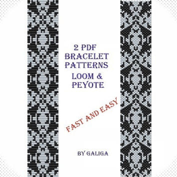 Jewelry and beading Bracelet patterns Grey bracelet Black pattern Grey jewelry making Beaded pattern Instant download Pdf files easy to