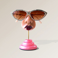 Schnazzy Sunglass holder, Eyeglass display stand, Women's glasses storage, Show off your shades.