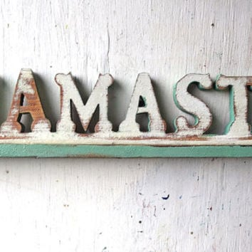 Namaste Sign, Boho Decor, Reclaimed Wood Sign, Yoga Sign, Bohemian Sign, Wooden Sign, Hindu Sign, Buddhist Sign, Indian Decor