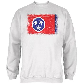 Born and Raised Tennessee State Flag Mens Sweatshirt