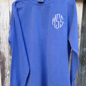 Circle Monogram Long Sleeve Shirt