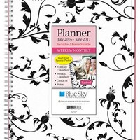 "Blue Sky 2016-2017 Academic Year Weekly & Monthly Planner, Wire-O Binding, 8.5"" x 11"", Analeis (18718)"