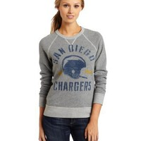 NFL Women's San Diego Chargers Heather Vintage French Terry Raglan